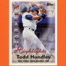 1997 Topps Baseball #466 Todd Hundley SH - New York Mets