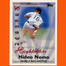 1997 Topps Baseball #464 Hideo Nomo SH - Los Angeles Dodgers