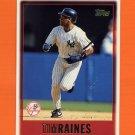 1997 Topps Baseball #334 Tim Raines - New York Yankees