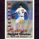 1997 Topps Baseball #100 Dwight Gooden HL - New York Yankees