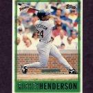 1997 Topps Baseball #096 Rickey Henderson - San Diego Padres
