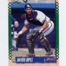 1995 Score Baseball #119 Javier Lopez - Atlanta Braves