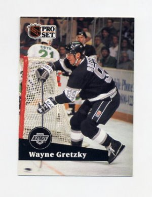 1991-92 Pro Set French Hockey #101 Wayne Gretzky - Los Angeles Kings