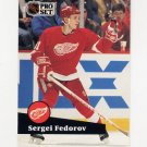 1991-92 Pro Set French Hockey #053 Sergei Fedorov - Detroit Red Wings