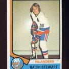 1974-75 Topps Hockey #158 Ralph Stewart - New York Islanders