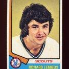 1974-75 Topps Hockey #114 Richard Lemieux - Kansas City Scouts