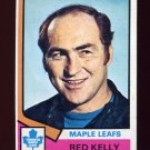 1974-75 Topps Hockey #076 Red Kelly CO - Toronto Maple Leafs