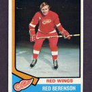 1974-75 Topps Hockey #019 Red Berenson - Detroit Red Wings