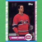 1989-90 Topps Hockey #188 Bobby Smith - Montreal Canadians