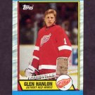 1989-90 Topps Hockey #144 Glen Hanlon - Detroit Red Wings
