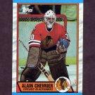 1989-90 Topps Hockey #132 Alain Chevrier - Chicago Blackhawks