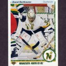 1990-91 Upper Deck Hockey #381 Daniel Berthiaume - Minnesota North Stars