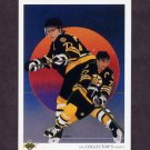 1990-91 Upper Deck Hockey #320 Ray Bourque Team Checklist - Boston Bruins