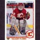 1990-91 Upper Deck Hockey #254 Mike Vernon - Calgary Flames