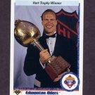 1990-91 Upper Deck Hockey #206 Hart Trophy / Mark Messier - Edmonton Oilers
