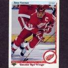 1990-91 Upper Deck Hockey #056 Steve Yzerman - Detroit Red Wings