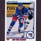 1990-91 Upper Deck Hockey #034 Bernie Nicholls - New York Rangers