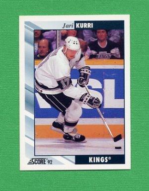1992-93 Score Hockey #398 Jari Kurri - Los Angeles Kings