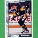 1992-93 Score Hockey #390 Mario Lemieux - Pittsburgh Penguins