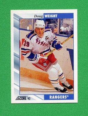 1992-93 Score Hockey #314 Doug Weight - New York Rangers