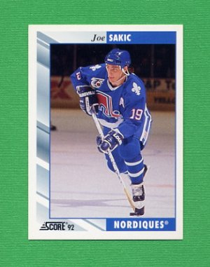 1992-93 Score Hockey #240 Joe Sakic - Quebec Nordiques