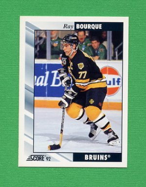 1992-93 Score Hockey #100 Ray Bourque - Boston Bruins