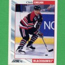 1992-93 Score Hockey #002 Chris Chelios - Chicago Blackhawks