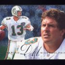 1995 Fleer Football Flair Preview #18 Dan Marino - Miami Dolphins NM-M