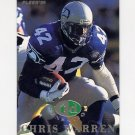 1995 Fleer Football TD Sensations #08 Chris Warren - Seattle Seahawks