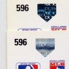 1991 Upper Deck Baseball #596 Tim Crews - Los Angeles Dodgers Regular and Variation Holograms
