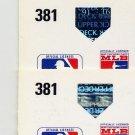 1991 Upper Deck Baseball #381 Tom Foley - Montreal Expos Regular and Variation Holograms