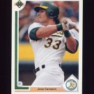 1991 Upper Deck Baseball #155 Jose Canseco - Oakland A's
