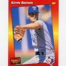 1992 Donruss Triple Play Baseball #226 Kevin Brown - Texas Rangers