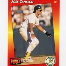 1992 Donruss Triple Play Baseball #214 Jose Canseco - Oakland A's
