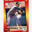 1992 Donruss Triple Play Baseball #124 Bob Welch - Oakland A's