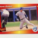 1992 Donruss Triple Play Baseball #110 John Olerud - Toronto Blue Jays