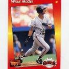 1992 Donruss Triple Play Baseball #101 Willie McGee - San Francisco Giants
