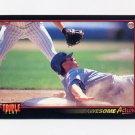 1993 Donruss Triple Play Baseball #193 Omar Vizquel AA - Seattle Mariners