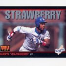 1993 Donruss Triple Play Baseball #187 Darryl Strawberry - Los Angeles Dodgers