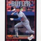 1993 Donruss Triple Play Baseball #136 Brett Butler - Los Angeles Dodgers