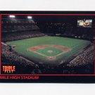 1993 Donruss Triple Play Baseball #127 Mile High Stadium