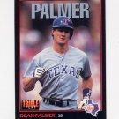 1993 Donruss Triple Play Baseball #111 Dean Palmer - Texas Rangers