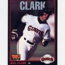 1993 Donruss Triple Play Baseball #107 Will Clark - San Francisco Giants