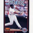 1993 Donruss Triple Play Baseball #005 Cecil Fielder - Detroit Tigers