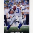 1995 Upper Deck Football #058 Rick Mirer - Seattle Seahawks
