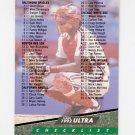 1992 Ultra Baseball #298 Checklist 1-100