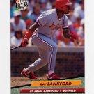 1992 Ultra Baseball #265 Ray Lankford - St. Louis Cardinals