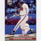 1992 Ultra Baseball #047 Albert Belle - Cleveland Indians