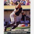 1992 Ultra Baseball #033 Carlton Fisk - Chicago White Sox
