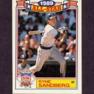 1990 Topps Baseball Glossy All-Stars #03 Ryne Sandberg - Chicago Cubs